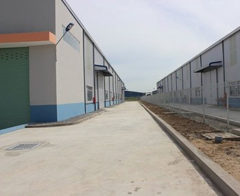 Rental warehouse Long An province